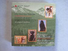 1997 ROYAL CANADIAN MINT BOX SET 4 CANADA'S BEST FRIENDS SILVER 50 CENT PIECES