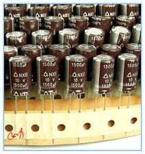 (10pcs) 1500uf 10v Radial Electrolytic Capacitors 10v1500uf Low ESR Long Life