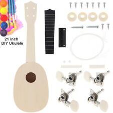 "21"" Soprano Ukulele DIY Kit Pineapple Shape Basswood Hawaii Guitar for Handwork"