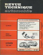 (48A) REVUE TECHNIQUE AUTOMOBILE CITROEN GS 1220 / RENAULT 8 1100 cc