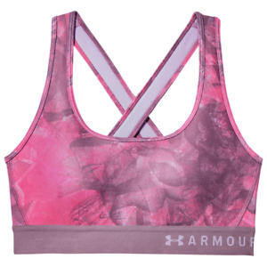 NEW Under Armour Mid Crossback Padded Sports Bra - Size XS - Purple Pink