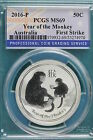 2016-P PCGS MS69 YEAR OF THE MONKEY AUSTRALIA 1/2OZ!!!! #A2865