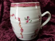 Antique Chinese Export Porcelain Barrel-Shape Mug - Famille Rose
