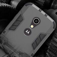 Hybrid Hard Soft Gel Case Armor Case Kickstand Cover for Motorola Moto G 2nd Gen