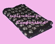 Tapis Confortbed Vetbed Dry anti-dérapant noir pattes grises 75x100 cm 26 mm