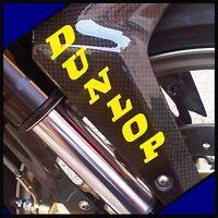 DUNLOP Fork Stickers YELLOW moto gp racing zx 7 r 1 3 6 gsxr 750 600 decals tire
