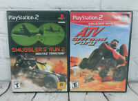 Smuggler's Run 2 Hostile Territory & ATV Ofroad PlayStation 2 PS2 Video Game Lot