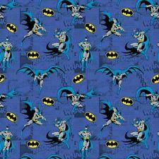Batman - Comics Blue - Fabric Material
