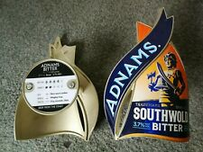 ADNAMS brewery SOUTHWOLD BITTER Beer pump clip badge cask real ale With Backing