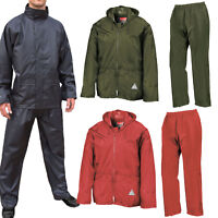 Weather-Guard Heavy Duty Waterproof and Windproof Jacket Trousers Suit + BAG