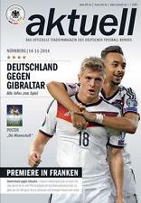 """EM-Qualifikation 14.11.2014 Deutschland - Gibraltar, Poster """"Die Mannschaft"""""""