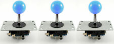 3 x Sanwa Style Ball Top Arcade Joysticks, 8 Way (Blue) - MAME, JAMMA