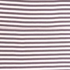 Grey 1/2 Cm Stripe Cotton Elastin Jersey Rib Cuff Half M Stretch Waistband Trim