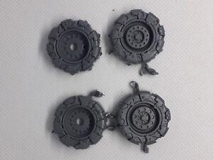 Warhammer 40K Ork Battlewagon trukk pair of wheels a bits