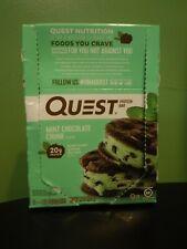12 Mint Chocolate Chunk Quest Bars 20g Protein 1g Sugar JUNE/2022