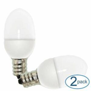 GE Lighting 14150 0.5 Watt Candelabra E12 C7 Soft White Night Light LED Bulbs 2
