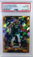 2019 Panini Prizm Orange Ice Giannis Antetokounmpo #152, Low pop Graded PSA 10