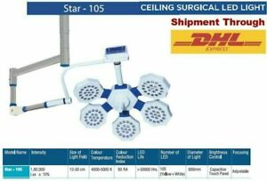 OT Star 105 Surgical Operation Theater light LED Lamp Stainless Steel Ceiling
