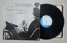 Dexter Gordon: Doin' Allright, Blue Note 84077, RVG, LIB, LAM, Jazz LP