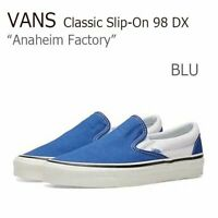 Vans Anaheim Factory Classic Slip-On 98 DX Shoes Men's Size 7 Women's 8.5 OG Blu