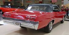 1965 1966 Chevrolet Chevy Impala Convertible Top w Plastic Window - BLACK