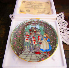 Limoges George Boyer, Alice in Wonderland, Roses, Collector Plate, w/box & Coa