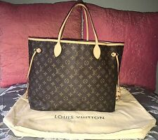 2009 Louis Vuitton Neverfull GM Tote Monogram Purse Shoulder Bag Handbag France
