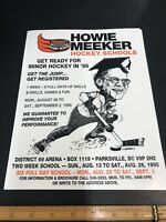 howie meeker Hockey School Vintage NOS Poster Lobby Card Great 4 The Hockey Cave