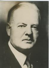 Herbert Hoover, Président des Etats-Unis Vintage silver Print Tirage argentiqu