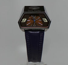 Paul Smith RETRO LIMITED EDITION PURPLE ASYMMETRICAL SPACEMAN FASHION WATCH