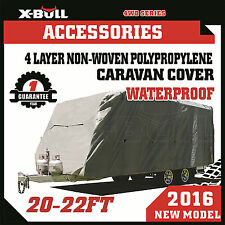 20-22ft Caravan Covers Campervan 4 Layer Waterproof UV Heavy Duty X-BULL