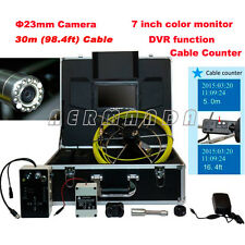 Waterproof Pipe Camera underground Plumbing inspection Cable Counter Borescope