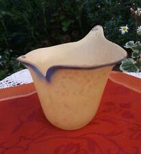 Vintage Art Nouveau Deco Glass Flower Petal  Light Lamp Shade Tealight Candle