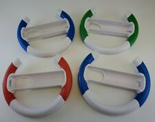 Lot Of 4 Racing Steering Wheels Attachments for Wii & Wii U Red Green Blue Four