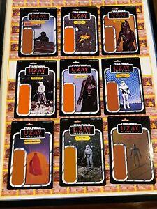 Star Wars UZAY Cardbacks LOT of 9!  ROTJ ESB