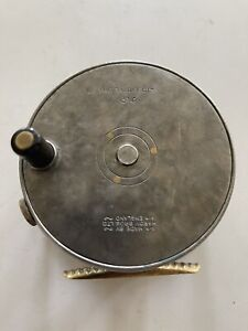"Vintage Hardy The Perfect 3 3/4"" Wide Drum Fly Reel. Perfect Mechanical Cond."