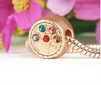 ROSE GOLD PLATED LOVE FAMILY TREE OF LIFE CHARM BEAD FOR BRACELET OR NECKLACE