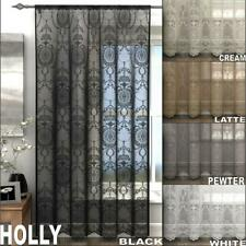 ONE SINGLE HOLLY VINTAGE LACE CURTAIN VOILE SLOT TOP PANEL 5 Colours