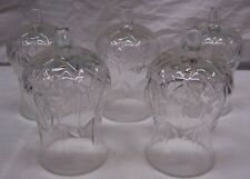 HOME INTERIORS / HOMCO VOTIVE CUPS - 5 HARD TO FIND CLEAR HURRICANE CUPS