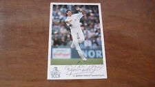 ANDY CADDICK HAND SIGNED ENGLAND 6x4 INCH CRICKET CARD