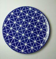 Villeroy & Boch Dessert Appetizer Plate Blue Geometric 1748