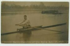 Rowing, Ernest Barry Sculling World Champion July 1912 Thames RP Postcard, C077
