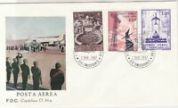 Vatican 1967 Airmail Post People + Plane Picture Multi Stamps FDC Cover Rf 29507