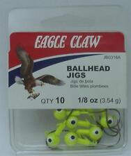 Eagle Claw JB0318AH Chartreuse 3.7ml Kugelkopf Jigheads 10CT 20149