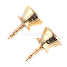 Strap Locks End Pins Buttons for Guitar Parts Gold Plated Pack of 2