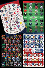 The Pro Sports Universe 4 WALL POSTER COMBO All Team Logos NFL, MLB, NHL, NBA