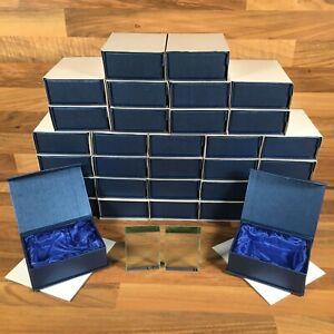 32 Glass Award Prize Trophy Rectangle Plain Blank Boxed 76mm 56mm 15mm Bundle