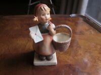1962 M.I Hummel Meditation Figurine Girl with Letter & Basket  - Number 18/2/0