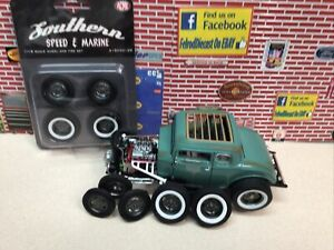 1/18 ACME GMP HALIBRAND SOUTHERN SPEED & MARINE WHEELS & TIRES A1805012W Low Sto