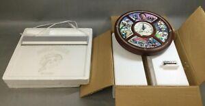 The Danbury Mint Dan Marino Clock Miami Dolphins Football NFL + Light Up Sign